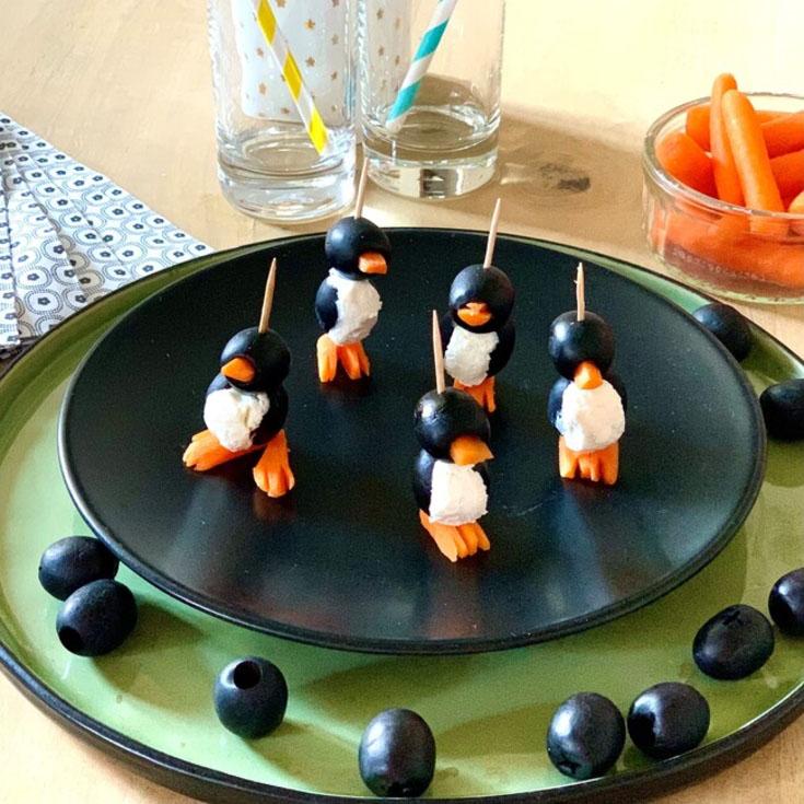Mini-pingouins au chèvre frais