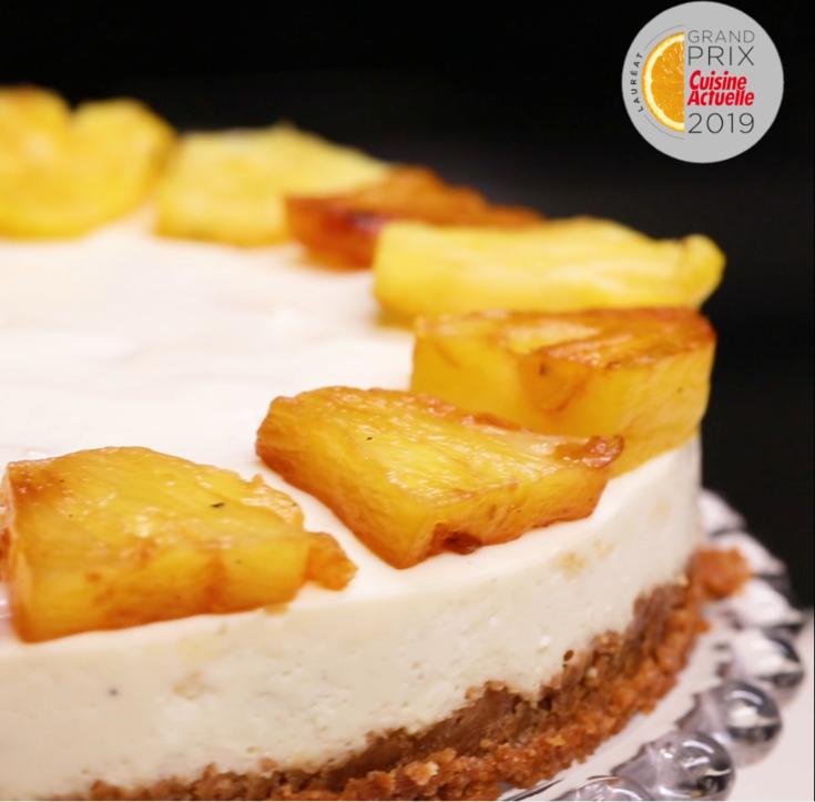 Cheesecake ananas sans cuisson