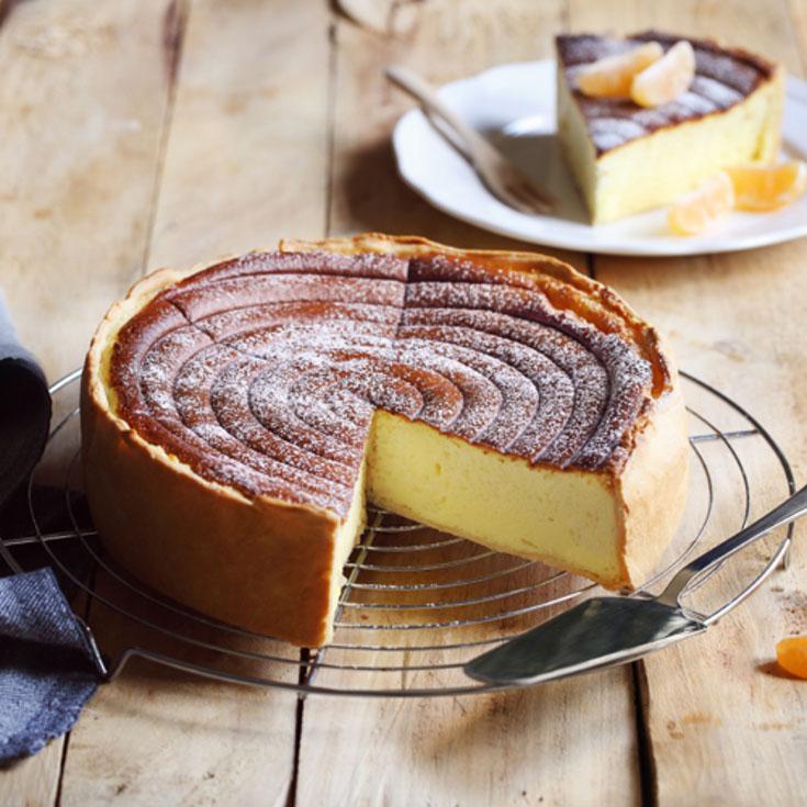Gâteau au fromage blanc de brebis