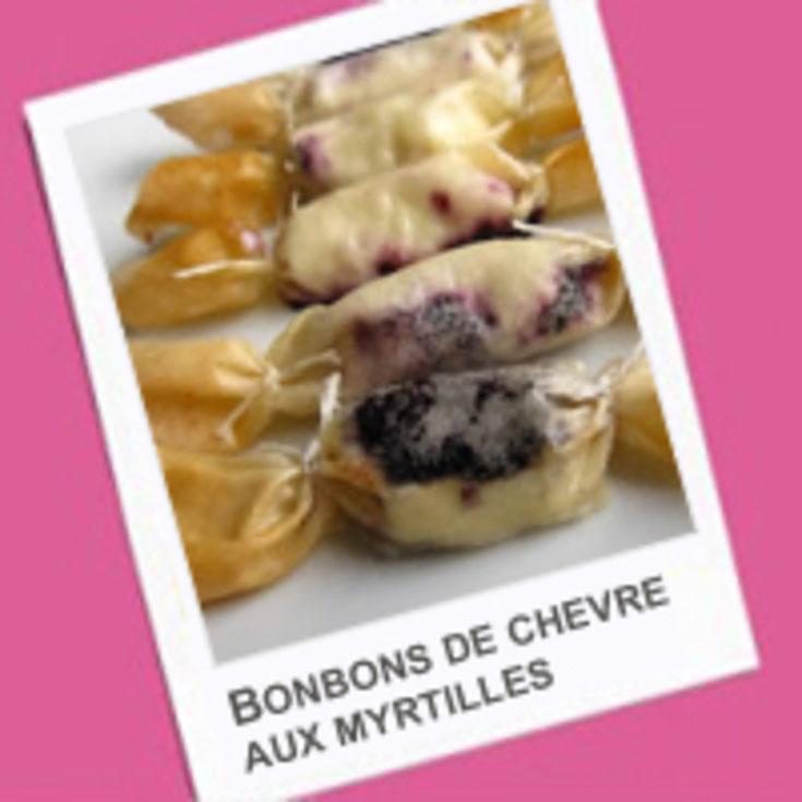 Bonbons de chèvre aux myrtilles