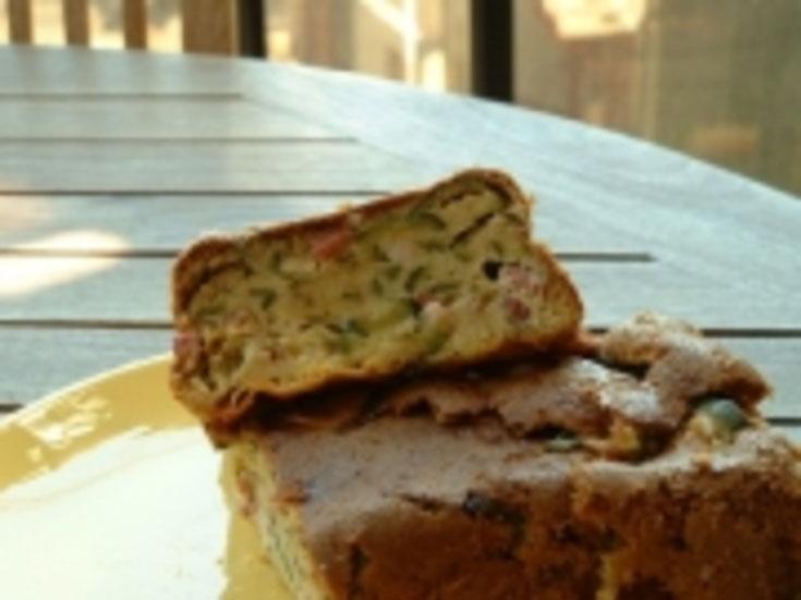 Cake de courgettes et chèvre