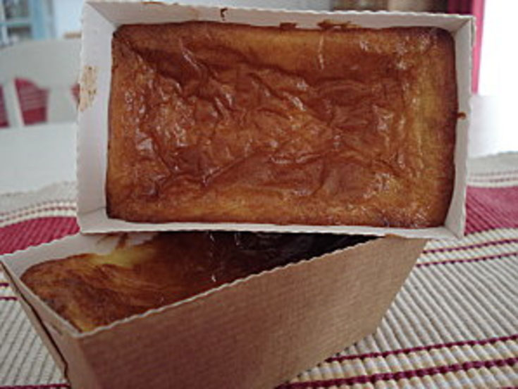 Cake sucré au fromage de chèvre & cranberries