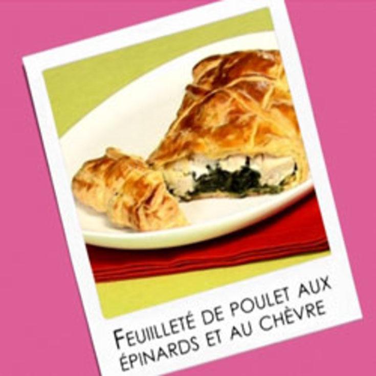 Feuilleté de Poulet aux épinards et au fromage de Chèvre.