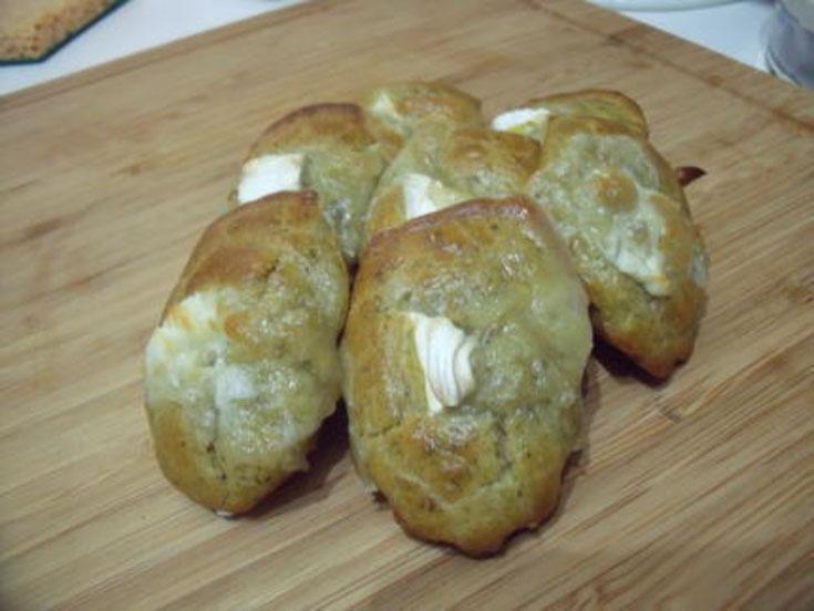 Madeleines pesto - fromage de chèvre