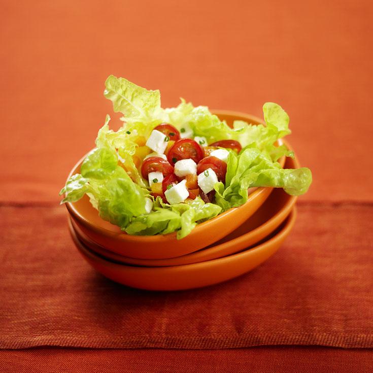 Salade de chèvre aux tomates cerises