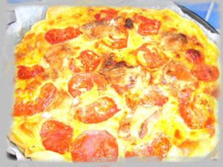 Tarte chèvre/tomates