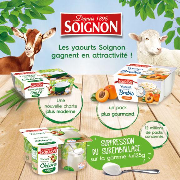 Les yaourts Soignon gagnent en attractivité!