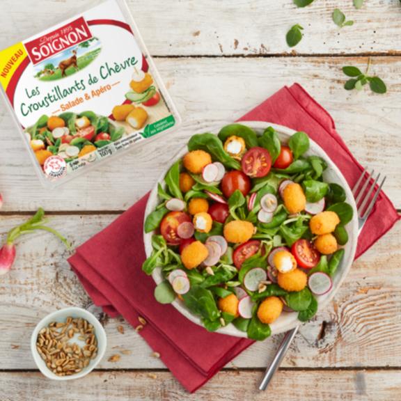 Soignon met du chèvre dans vos salades !