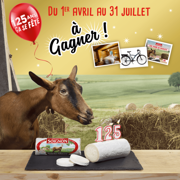 Pour ses 125 ans, Soignon vous fait gagner des cadeaux !