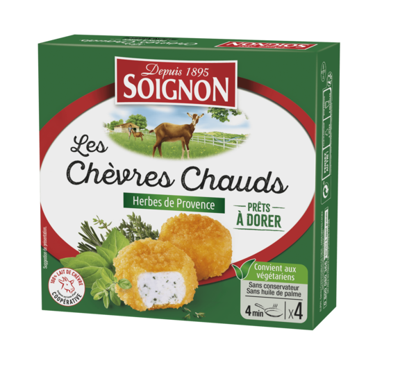 Les Chèvres Chauds Herbes de Provence x4