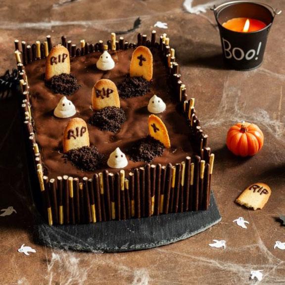 Gâteau cimetière à la crème dessert chocolat