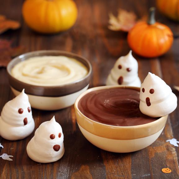 Meringues fantômes d'Halloween