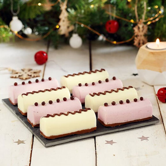 Mini bûches de Noël au yaourt de brebis