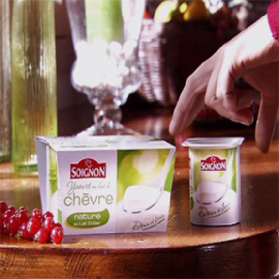 Publicité Soignon Yaourt au lait de chèvre 2009