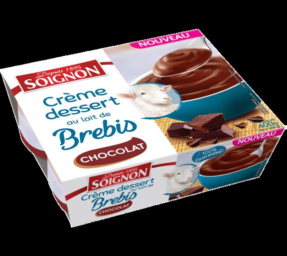 Crème dessert chocolat au lait de brebis