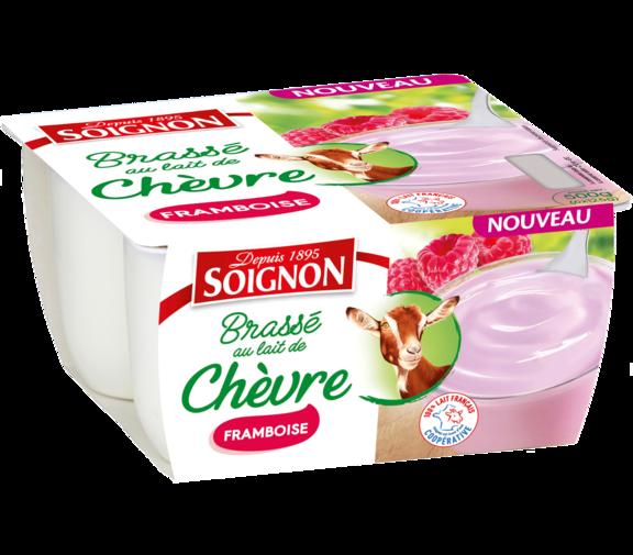 Yaourt fruits mixés framboise au lait de chèvre