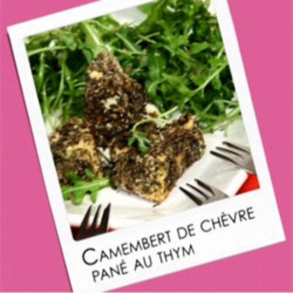 Camembert de Chèvre pané au thym