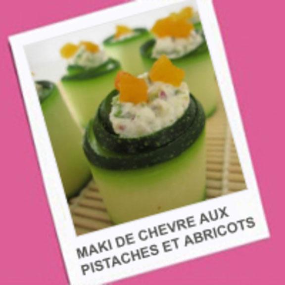 Maki de chèvre aux pistaches et abricot