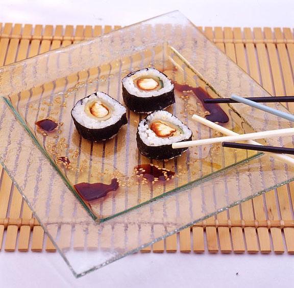 Sushi au chèvre au concombre