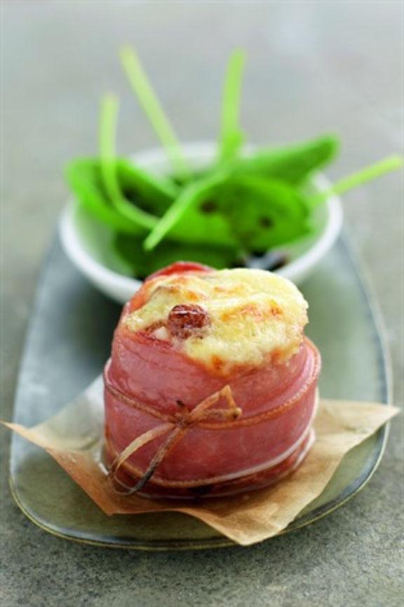 Sushis de chèvre gratiné de jambon cru