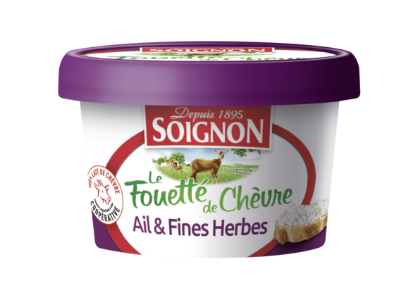 Le Fromage de Chèvre Fouetté Ail et Fines Herbes 140g