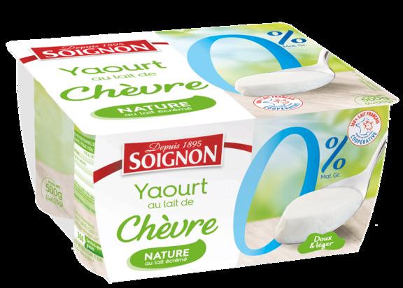 Yaourt nature 0% au lait de chèvre