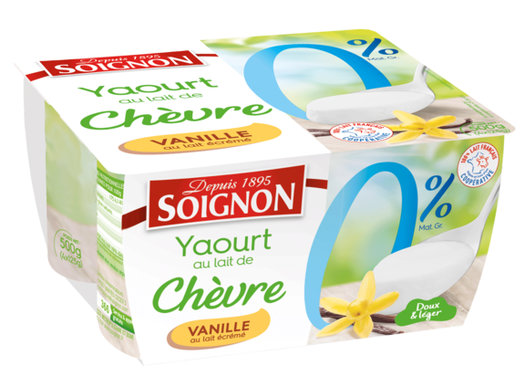 Yaourt vanille 0% au lait de chèvre