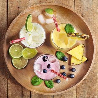 Frappés fruités au yaourt au lait de chèvre nature