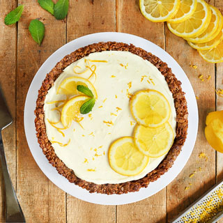 Tarte granola au yaourt de brebis citron