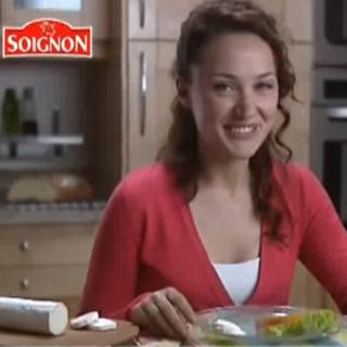 Publicité Soignon La bûche de chèvre Sainte Maure 2006