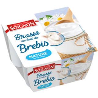 Yaourt brassé nature au lait de brebis