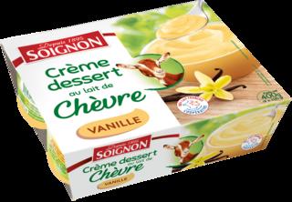 Crème dessert vanille au lait de chèvre