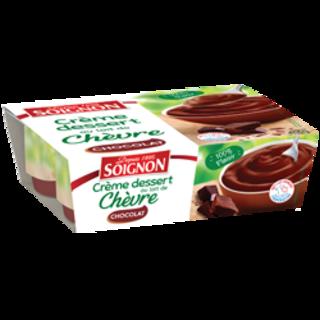 Crème dessert chocolat au lait de chèvre