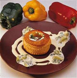 Bouchée au fromage de chèvre et curry