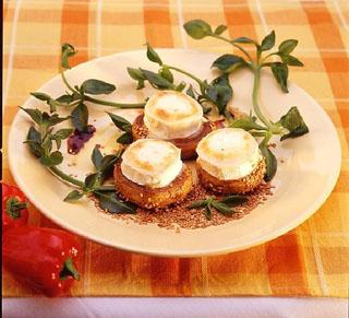 Champignons farcis au chèvre Sainte Maure et jambon