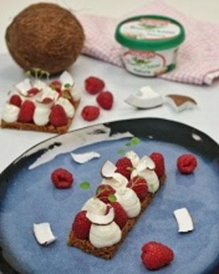 Cheesecake framboise coco