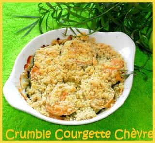Crumble courgette - fromage de chèvre