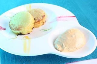 Darphin de pommes, glace Chèvre  et caramel