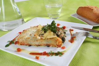 Lasagne au chèvre frais et épinards