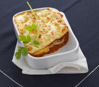 Lasagne bolognaise au fromage de chèvre