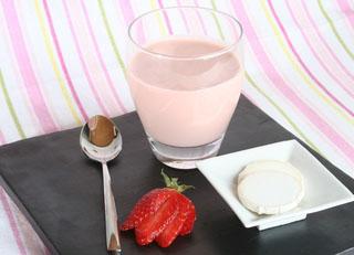 Milk shake de fraise au fromage de chèvre