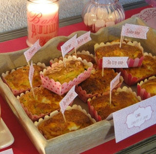 Mini cakes aux courgettes & au chèvre