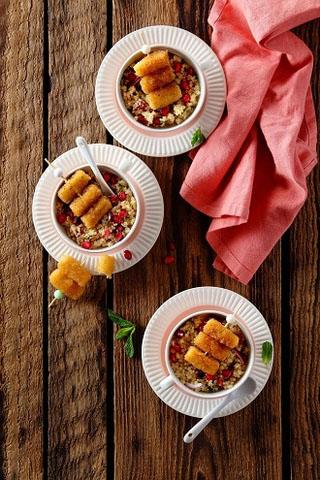 Mini salades apéritives aux Croustillants de Chèvre