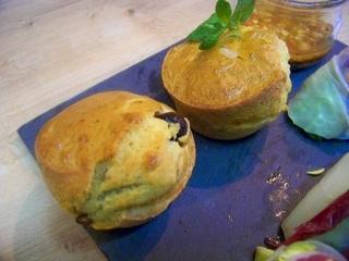 Muffins au fromage de chèvre à la provençale