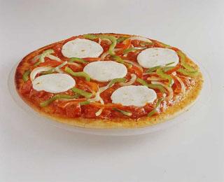 Pizza au chèvre, poivrons et oignons