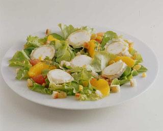 Salade de chèvre à l'orange et au pamplemousse