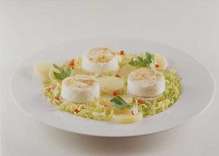 Salade de chèvre chaud aux pommes de terre