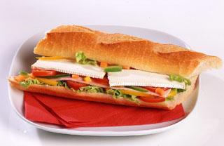 Sandwich chèvre et jambon
