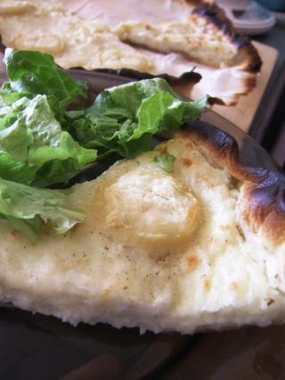 Tarte  pomme de terre et fromage de chèvre saint maure