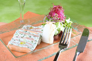 Terrine de saumon au Fouetté de Chèvre façon Tzatziki